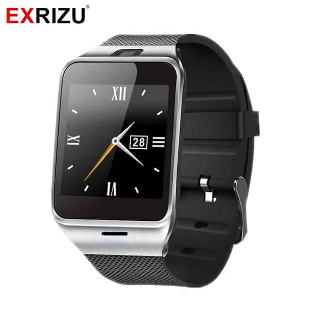 8b1625baf4e2 EXRIZU GV18 APLUS reloj inteligente dispositivo Bluetooth pulsera Smartwatch  manos libres para Android iPhone con GSM SIM ranura