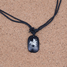 цена на Tibetan Yak Bone Sagittarius Constellations Zodiac Pendant Amulet Ethnic Style Necklace Handmade Jewelry