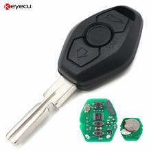 Keyecu Replacement Keyless Entry Remote Key Fob 315/434MHz With Chip ID44 for BMW  3 5 7 SERIES E38 E39 E46 Uncut Blade HU58