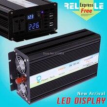 2000 W Pico Pantalla LED de 1000 W de Onda Sinusoidal Pura Rejilla inversor de la CC 12/24/48 v a AC 100/110/220/230 V solar dvd del coche sistema de inversor