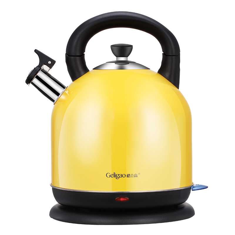 Yellow 4.2L Water Electric Kettle Household Teapot Full Automatic Power Off  304 Stainless Steel Boiling Pot Heating Machine fully automatic upper water electric kettle 304 tea set teapot for household use