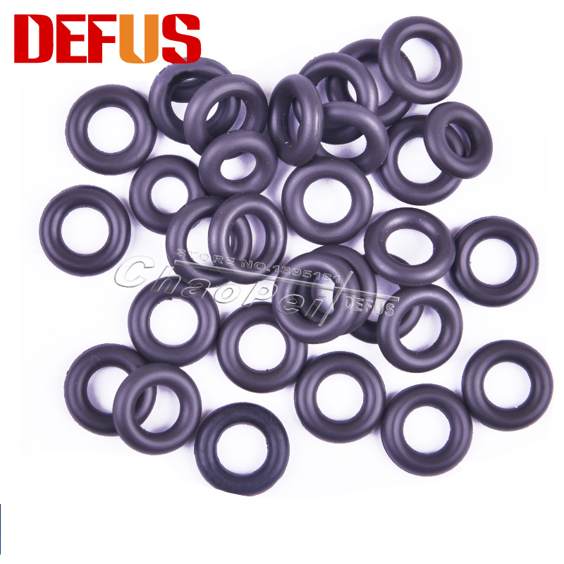 100 Pcs Brand High Quality Fuel Injector Repair Kit For Universal Car O-ring Black Fafctory Direct Sale Cheap Price 7.25*3.53mm