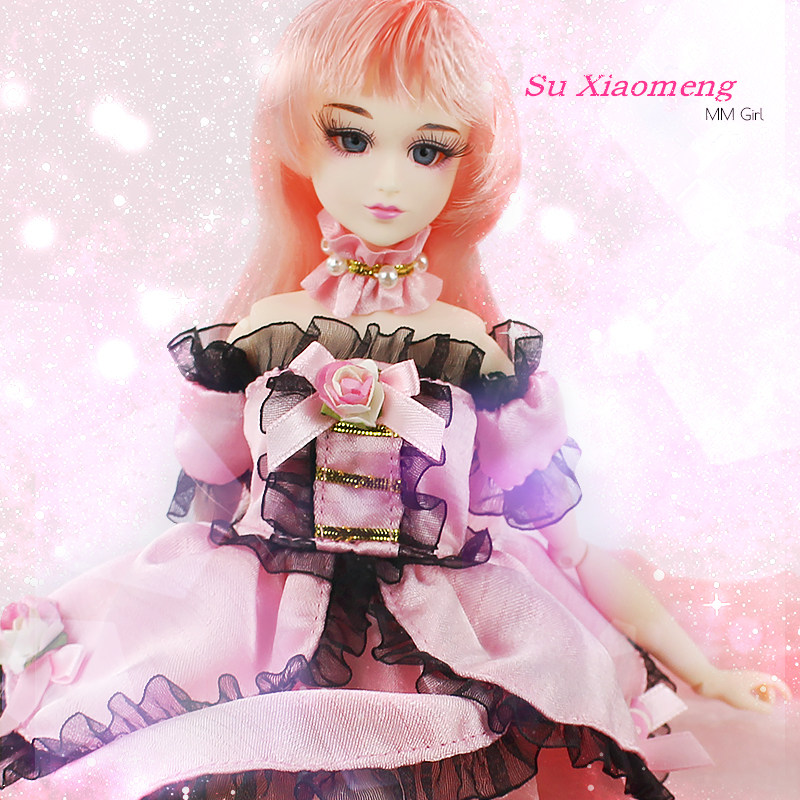 Fortune Days MM Girl like BJD Blyth Doll Su Xiaomeng with makeup Reborn girls 14Joint body 35CM high gift with clothes stand toy