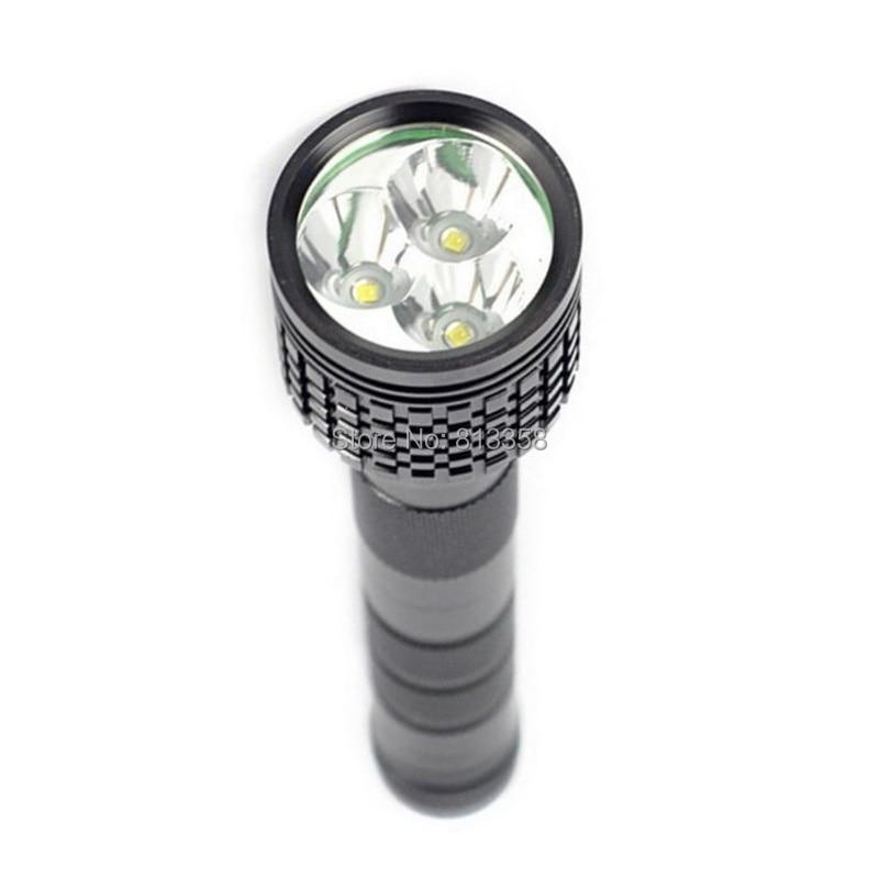 AloneFire HF3 hunting flashlight 3XCREE XML T6 LED 5000LM Flashlight 18650 Torch 3T6 LED Tactical Flash Light Lantern linternas
