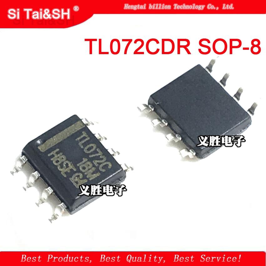 100PCS TL072 SOP8 IC OPAMP JFET 3MHZ DUAL NEW HIGH QUALITY