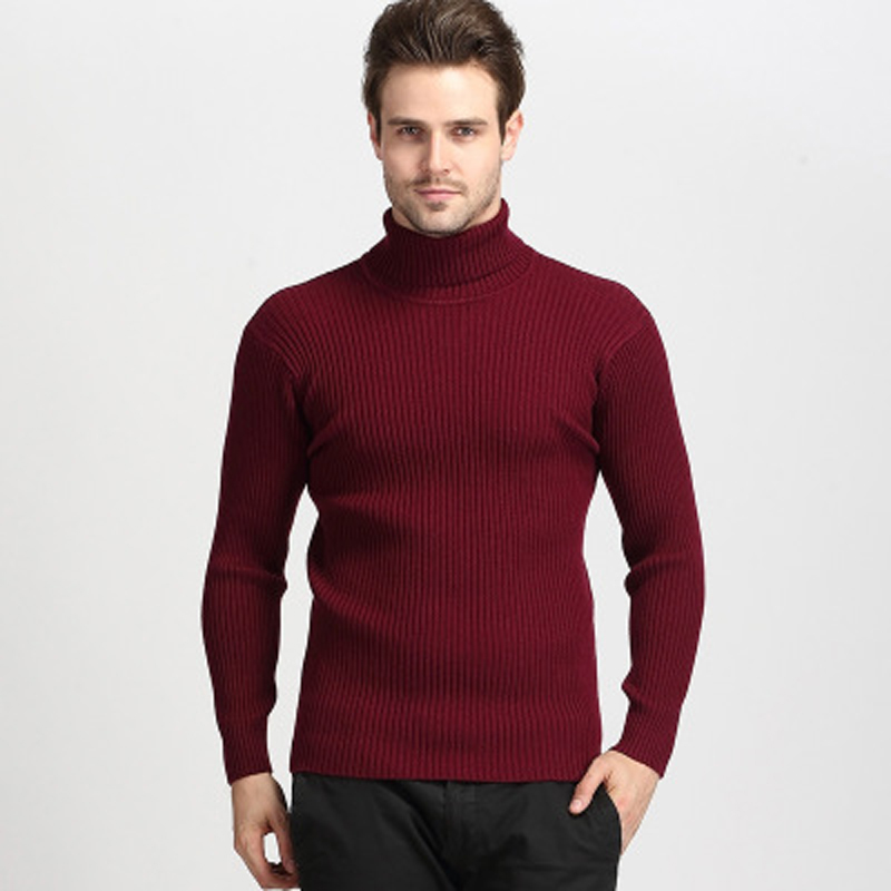 High Quality Winter Sweater Men Knitwear Pullover Slim