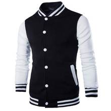 Nieuwe Mannen/Jongen Baseball Jas Mannen 2018 Fashion Ontwerp Wine Red Mens Slim Fit College Varsity Jacket Merk stijlvolle Veste Homme(China)