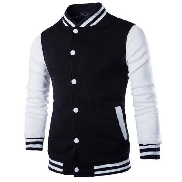 New Men/Boy Baseball Jacket Men 2018 Fashion Design Wine Red Mens Slim Fit College Varsity Jacket Men Brand Stylish Veste Homme