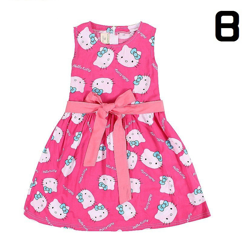 f2bfcec9f Retail Fashion Color Sleeveless Casual Dress Suit 3 9 Years Cute Girls Frock  Floral Print Korean Kids Clothes-in Dresses from Mother & Kids on ...