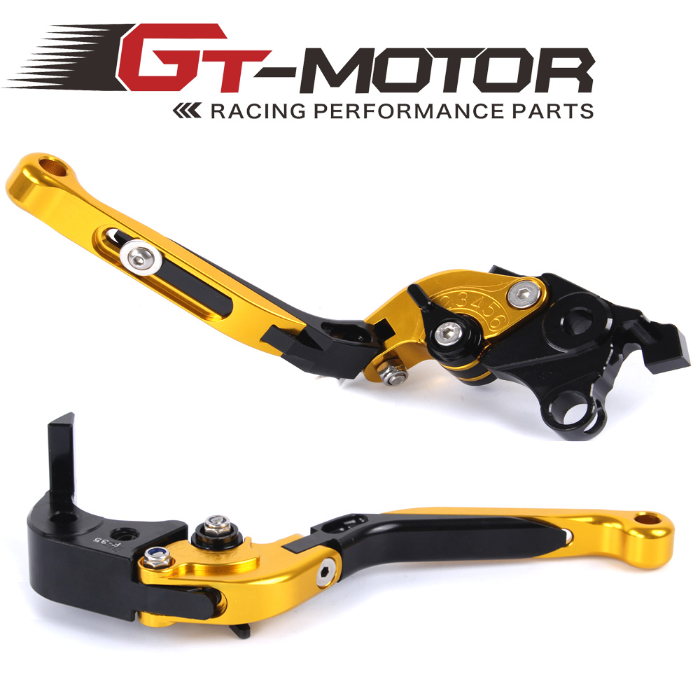 GT Motor - F-35 S-14 Adjustable CNC 3D Extendable Folding Brake Clutch Levers For SUZUKI GSXR1000 2007-2008 gt motor f 16 dc 80 adjustable cnc 3d extendable folding brake clutch levers for moto guzzi breva 1100 norge 1200 gt8v