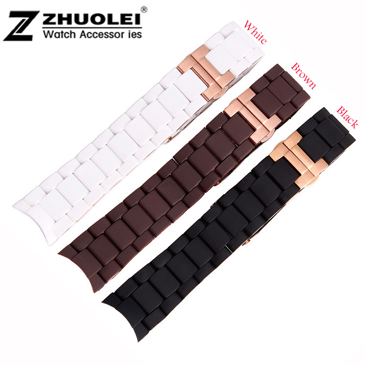 Replacement Watch Band 20mm 23mm NEW Silicone Rubber Diver Watch Strap Band For AR5890 AR5858 AR591