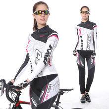 2017 Новинка весны с длинным рукавом женщина УФ-защиты Майки спортивные костюм горный велосипед быстросохнущая дышащий езда Джерси Комплекты для девочек