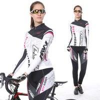 2017 Nouveau Printemps À Manches Longues Femme UV Protéger Maillots de Cyclisme Costume Vtt À Séchage Rapide Respirant Équitation Jersey Vêtements Ensembles
