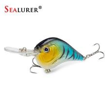 SEALURER  Fishing Lure Carp Fishing Bait Crank Bait  Artificial Hard Bait with 2 Treble Hook Crankbait