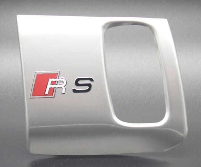 Stainless steel interior car keyhole decorative cover trim S,RS,S line logo emblem accessories Chrome 3D sticker Audi - Big Car club store