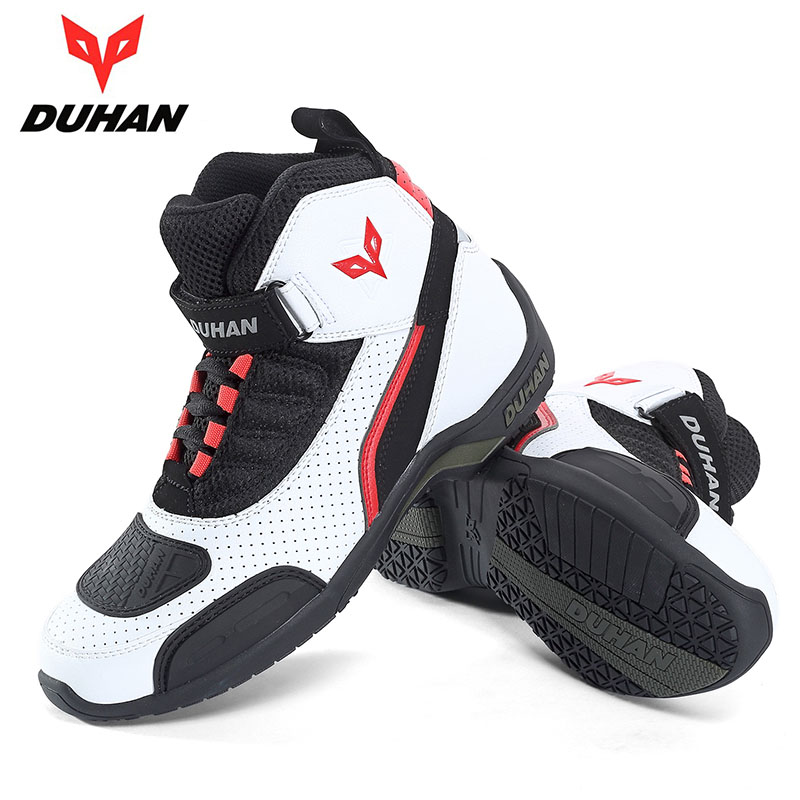white black color DUHAN motorcycle boots  knight protective motocross motorbike shoes size 41-42-43-44-white black color DUHAN motorcycle boots  knight protective motocross motorbike shoes size 41-42-43-44-