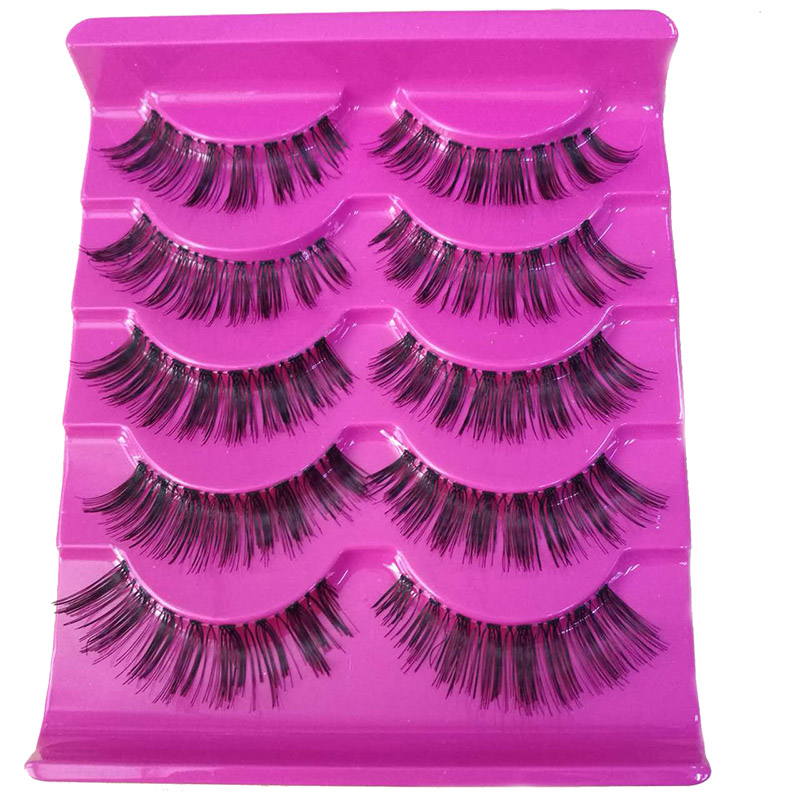 5Pairs Natural Long False Eyelashes Posterior Hand Made Fake Eyelash Cilia Eye Lash Extensions Lengthening & Charming Lashes A15
