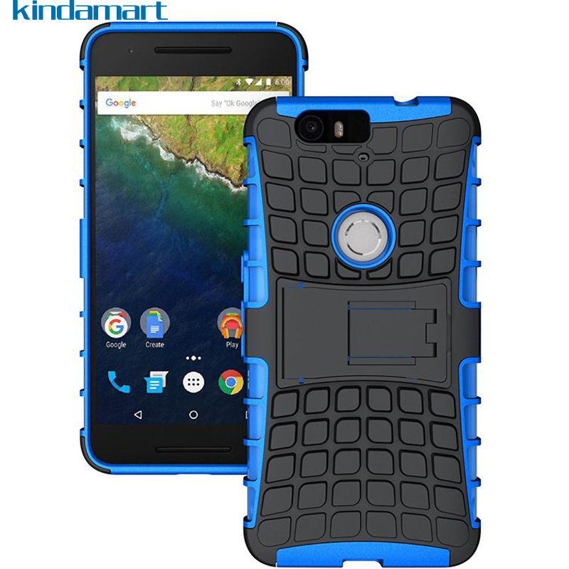newest collection f5e95 d0ae8 Hybrid Armor Hard Case For Google Nexus 6P Shockproof Rugged Silicone Back  Cover For Huawei Nexus 6P Phone Case Cover Kickstand