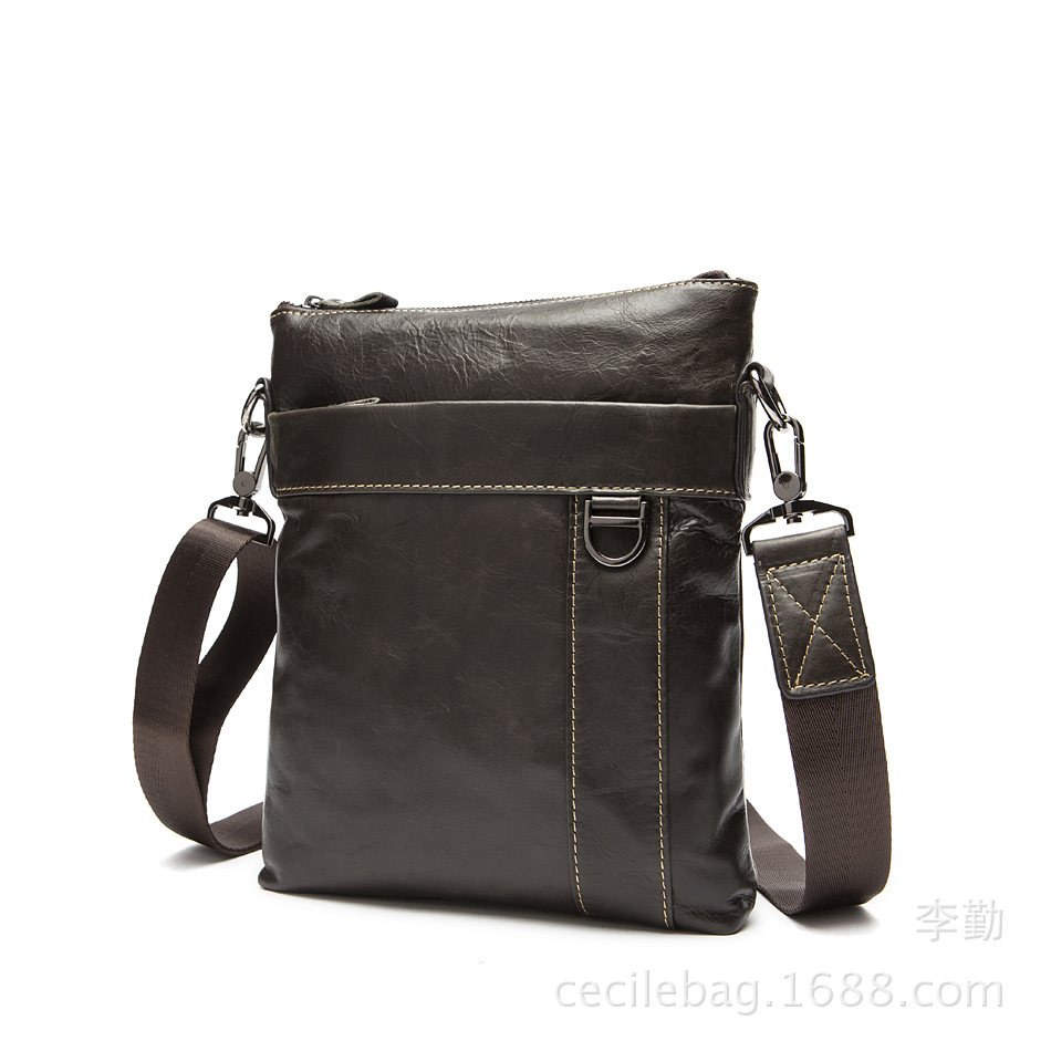 100% Genuine Leather Single Shoulder Bags for Men Small Business Bags Messenger Bags Leisure Outdoor Tourist Cross Body Bags