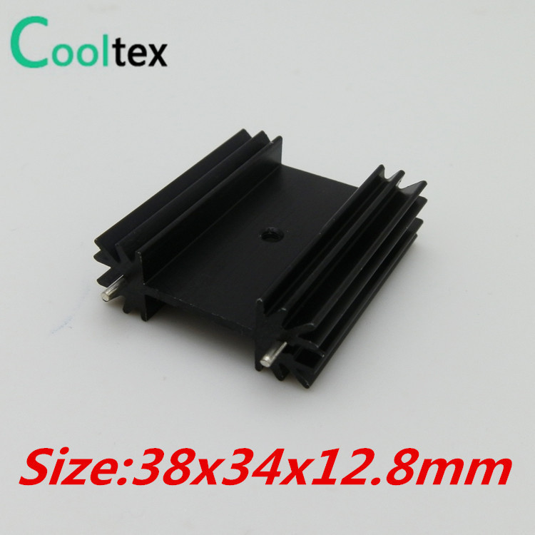 5pcs/lot  38x34x12.8mm  TO220  TO-220 heatsink  heat sink  radiator for  IC triode 7805  MOS 5pcs lot pure copper broken groove memory mos radiator fin raspberry pi chip notebook radiator 14 14 4 0mm copper heatsink