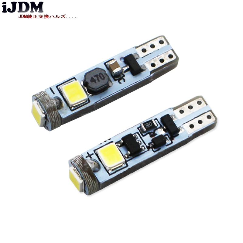 Светодиодный светильник iJDM Canbus T5 для автомобилей, 74, 73, 286, светодиодный светильник для приборной панели для BMW E36, E34, E32, E38, E31