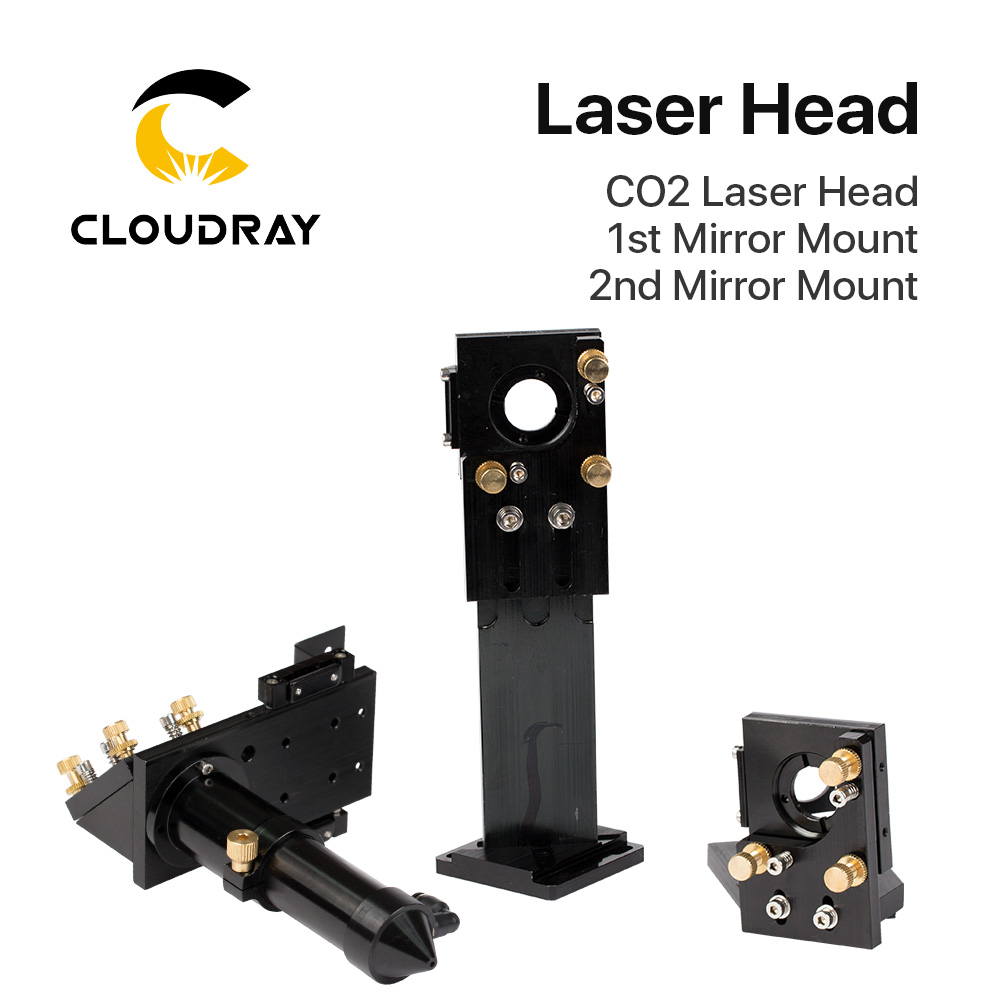 Cloudray CO2 Laser Head Set / Mirror Diameter 30 And Lens Diameter 25 FL 63.5&101.6 Integrative Mount Holder