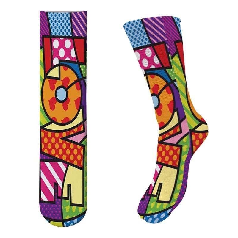 New Arrival Kawaii Popcorn Long   Socks   3D Printed Cartoon Women's Knee   Socks   Cute Novelty Casual Cotton Hamburger   Socks