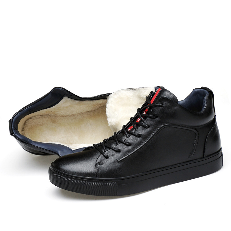 Genuíno 622 Usar Fur Quentes Qualidade Casuais Moda Homens Quente Masorini De Marca Manter Os Ww Trabalho Inverno black Alta Da Botas Sapatos Couro nXRvqF