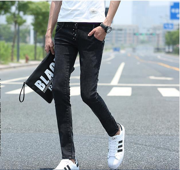 plus size noir skinny jeans hommes pantalons en denim mince pantalons hippie jeans homme calca. Black Bedroom Furniture Sets. Home Design Ideas