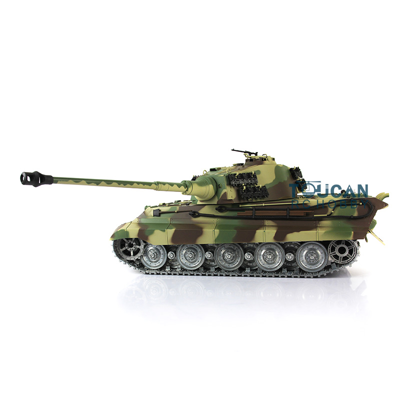 US Stock Fast Free 2.4Ghz 1/16 Scale HengLong King Tiger RTR RC Tank 3888A Metal Tracks Wheels 360 Degrees Rotatio Turret все цены