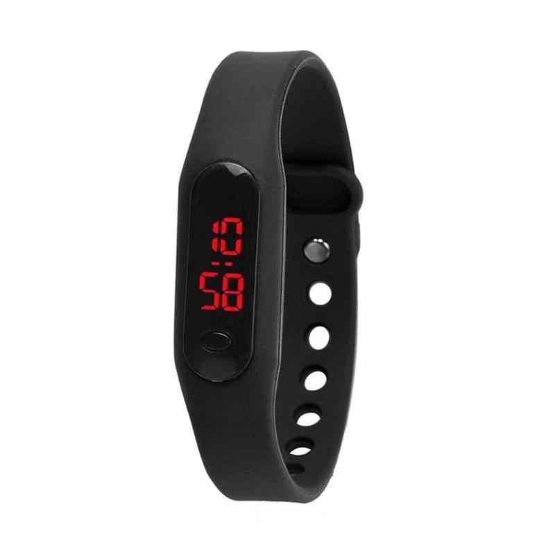 2018 Fashion Sport Watch LED Display Digital Watch Wanita Unisex Gelang Watch Pria Clock Montre Jam Tangan