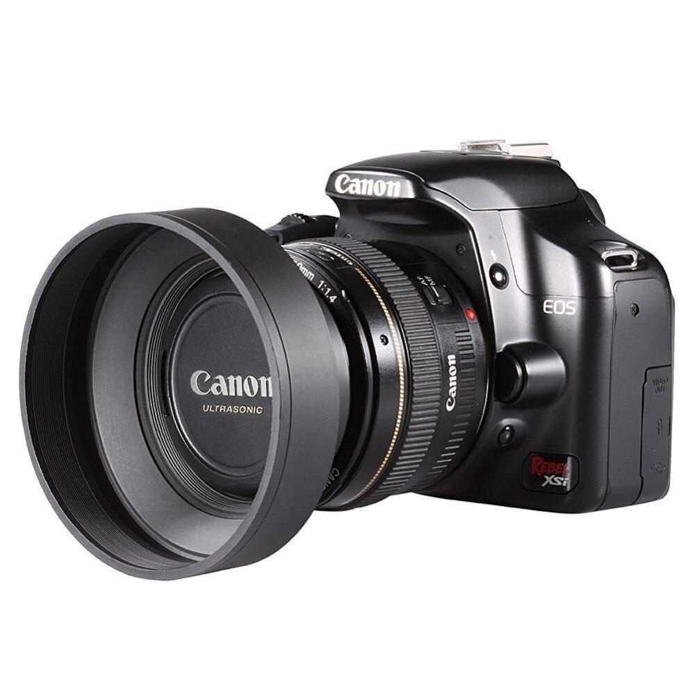 Neewer 58 MM 3 en 1 Pliable Caoutchouc Lens Hood pour CANON EOS 700D/650D/550D/400D/350D/300D/100D/60D Ou 58 MM Fil de Filtre D'objectif