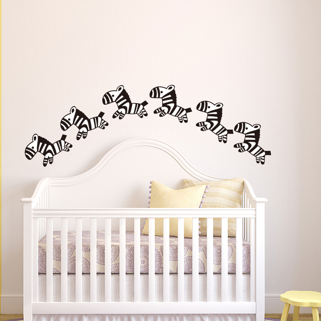 Baby Nursery Cartoon Horse Wall Stickers little Zebra Animal Wall Decals Kids Room Easy Wall Art  sc 1 st  AliExpress.com & Baby Nursery Cartoon Horse Wall Stickers little Zebra Animal Wall ...