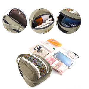 Image 4 - 2020 New Women Messenger Bags National Embroidery Mini Canvas Totes Zipper Mobile Phone Coin Purse Shoulder Bag