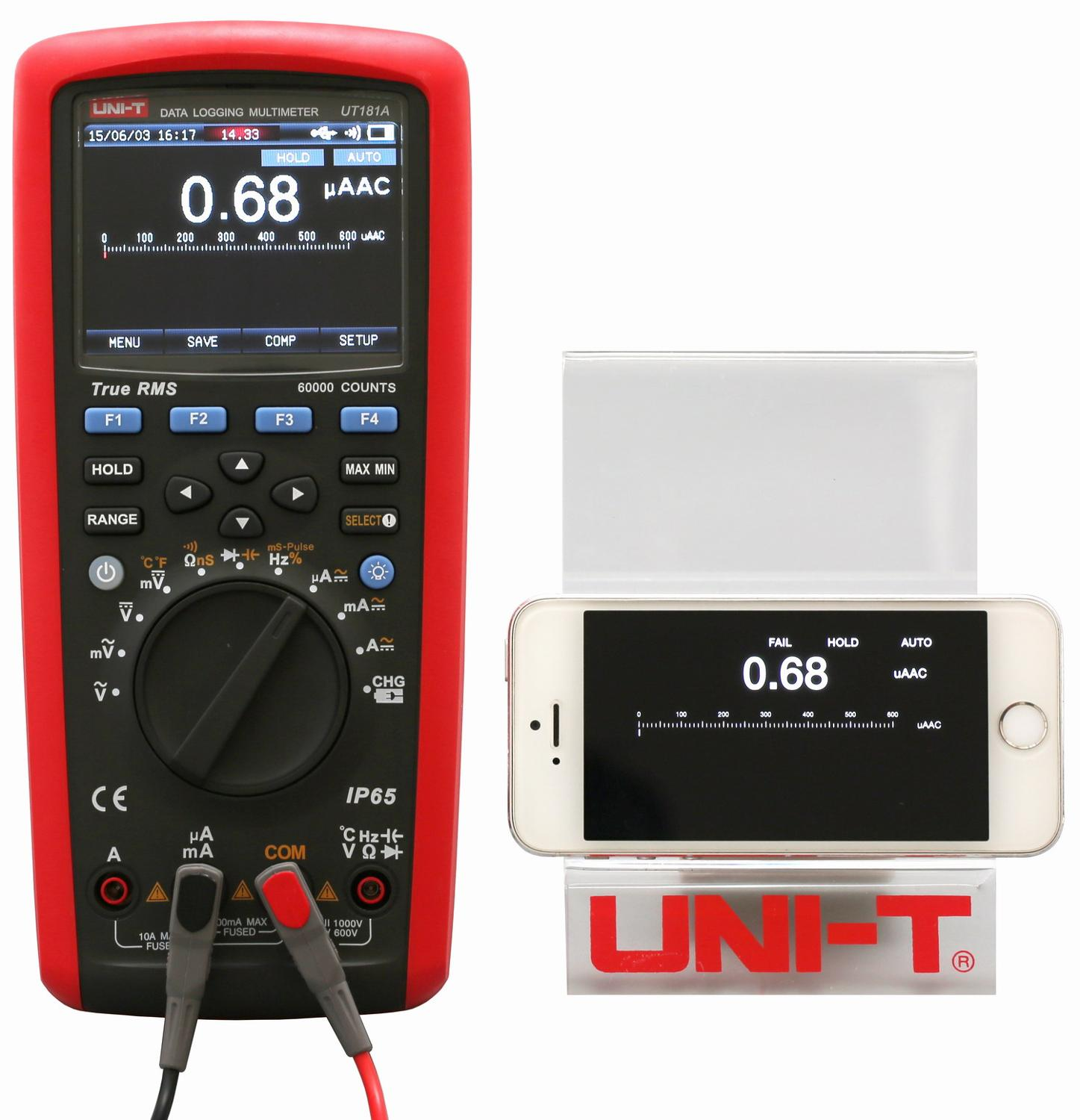 UT181A Digital High end True RMS Multimeter with USB Datalogger Software 60000 Display Count