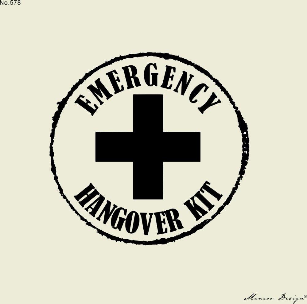 Hangover Kit Rubber Stamp Wedding
