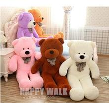 60cm 120cm 5 Colors Giant Teddy Bear Skins Soft PP Cotton Mini Plush Toy Big Teddy
