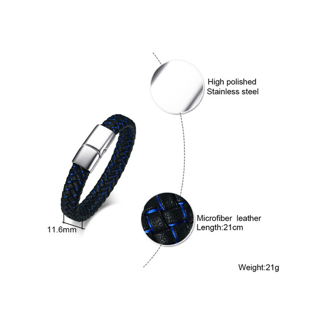 Купить высококачественный модный мужской индивидуальный браслет черный картинки