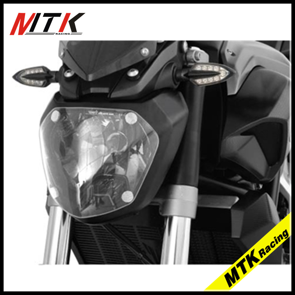 MTKRACING  MT-07  Motocycle ABS Headlight Protector Cover Screen Lens For Yamaha MT-07 MT07 2013-2017 for yamaha mt 07 mt 07 fz07 mt07 2014 2015 2016 accessories coolant recovery tank shielding cover high quality cnc aluminum