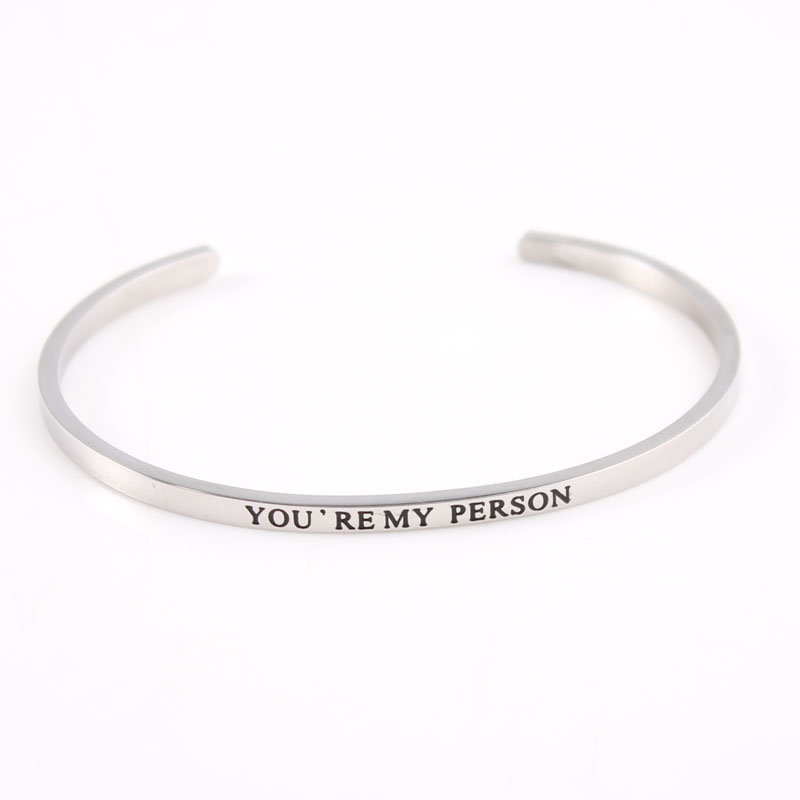 Bangles Bracelets & Bangles Good Quality Stainless Steel Bangle Engraved Live Laugh Love Stainless Steel Open Cuff Bangle Mantra Bracelet Gold For Women Selected Material