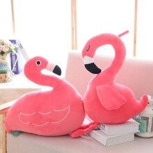 GGS Simulering 40cm Flamingo Plush Doll Söt Wildlife Bird Fylld Toy Samling Toy Hem Butik Decor Flickvän Xmas Gift