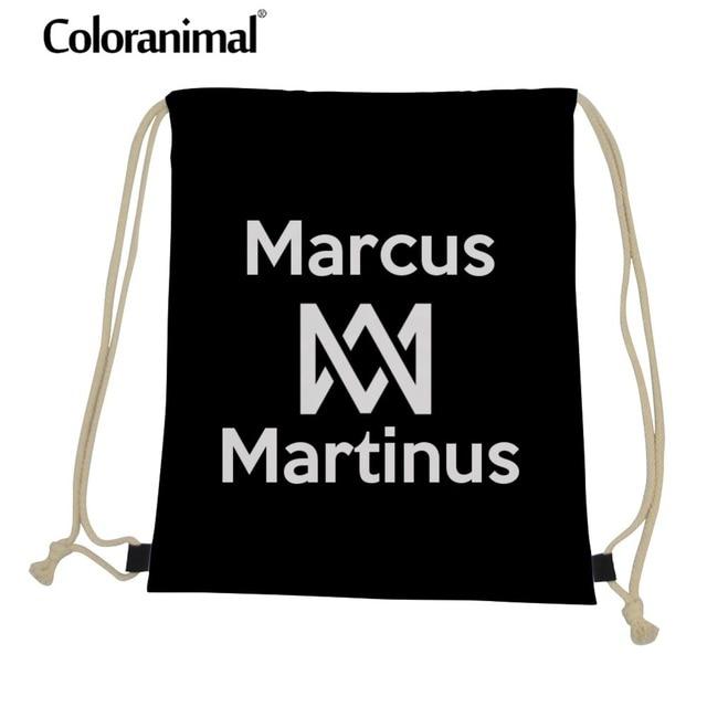 Coloranimal Marcus And Martinus Drawstring Bag Men 3D Anime Print Casual  Small Bagpack Gym Sack Rucksack Picnic Bag Storage Bag