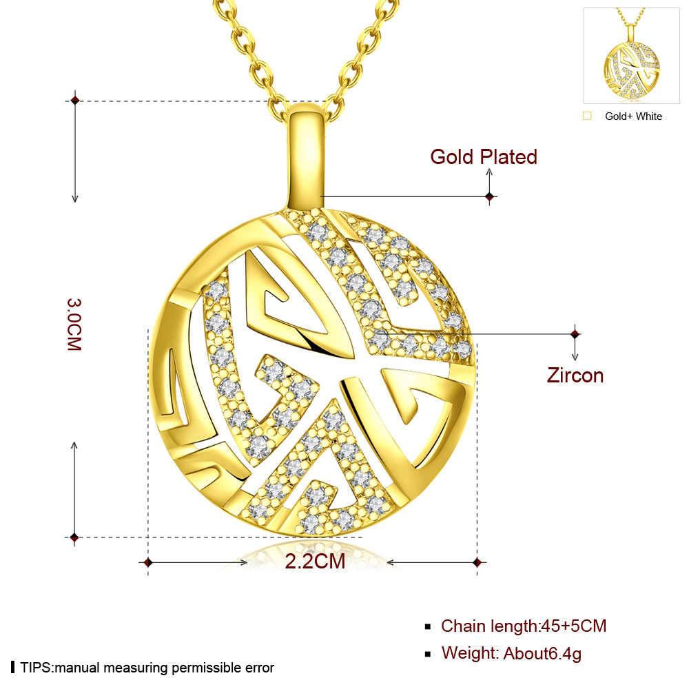Дубай золотого цвета комплекты украшений для женщин девочек мода свадьба австрийский кристалл ожерелье серьги круглый ювелирный набор bijoux