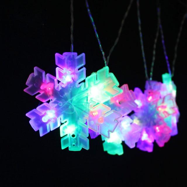 snowflake led string flicker christmas lights decorative windowfence guirlande lumineuse luci natale color led