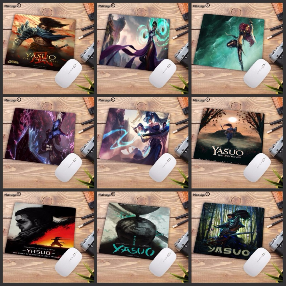 Mairuige 220*180*2mm Promotion <font><b>3D</b></font> <font><b>Sexy</b></font> <font><b>Mousepad</b></font> Gaming Speed Rubber Mouse Pad for Gamer Anime Riven Yasuo League of legends image