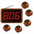 Singcall sem fio garçom chamada sistema de campainha para o serviço eficaz, 5 pcs de mesa sino e 1 pc receptor de ape1500
