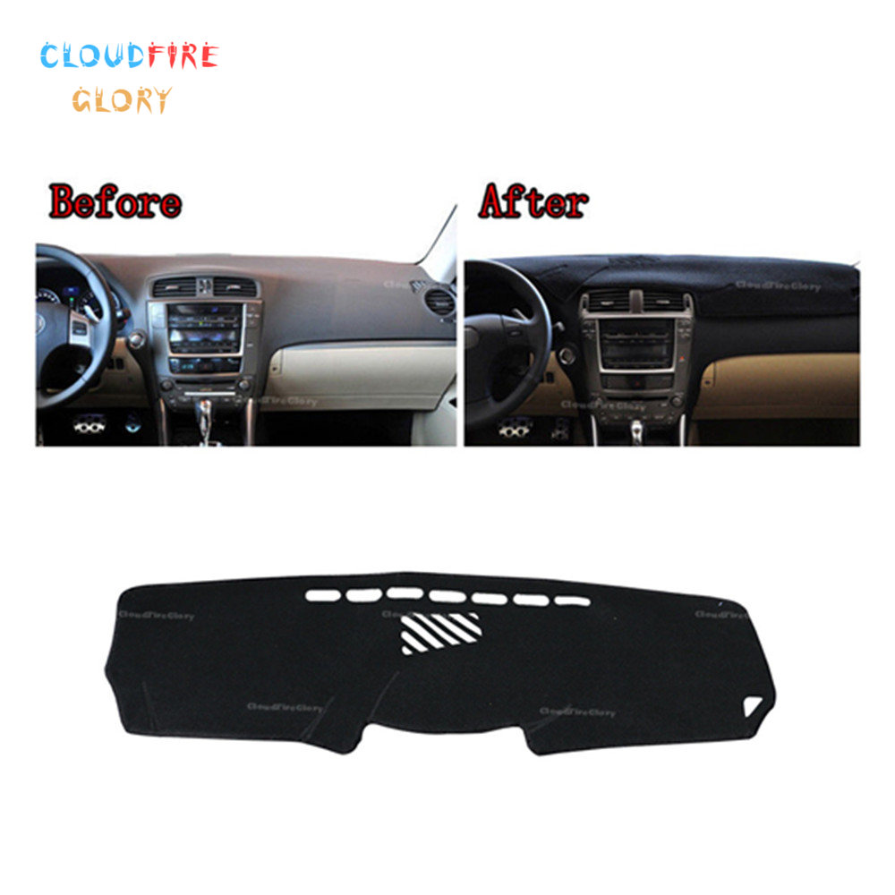CloudFireGlory LHD Dashboard Dashmat Dash <font><b>Mat</b></font> Pad Sun Shade Dash Board Cover Carpet For <font><b>Lexus</b></font> <font><b>IS200</b></font> IS250 IS350 IS300 2006-2013 image