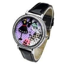 Top Black Dress Korean Fashion 3D mini clay watch women rhinestone wristwatch Girl Crystal analog quartz