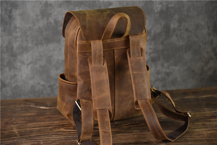 High Quality brand leather backpack
