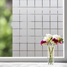 Lattice Frosted Window Sticker Opaque electrostatic Glass Film office Privacy Self-adhesive decorative film 10/15/20/25/30*100cm